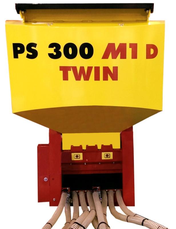 PS 300 M1 TWIN устойчивость к коррозии, точное дозирование, разделённый высевающий вал и лоток -  мелкосемянная сеялка APV, сподсев под каток