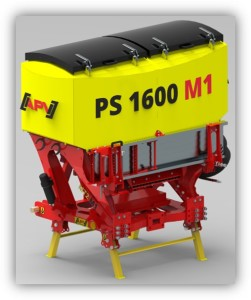 PS M1 в комбинации с MT2 M1 специальная площадка для монтажа, мелкосемянная сеялка, сеялка для подсева трав объём бункера 1600 л