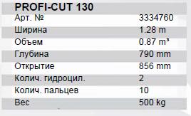 Profi CUT 130 тех характеристики