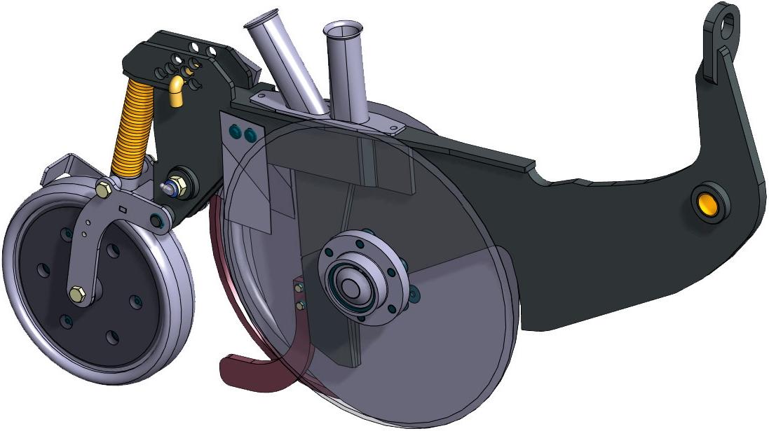 Junkkari сошник D серия механические посевной комплекс