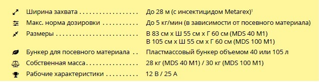 MDS от APV технические характеристики