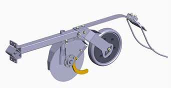 W700 принцип работы сошника , двхдисковый сошник с прикатывающим колесом, междурядье 15,9 , давление от 20 до 100 кг